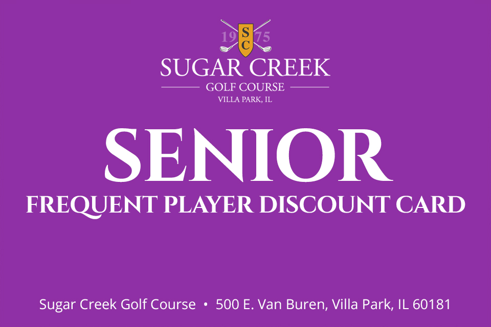 Senior Frequent Player Discount Card