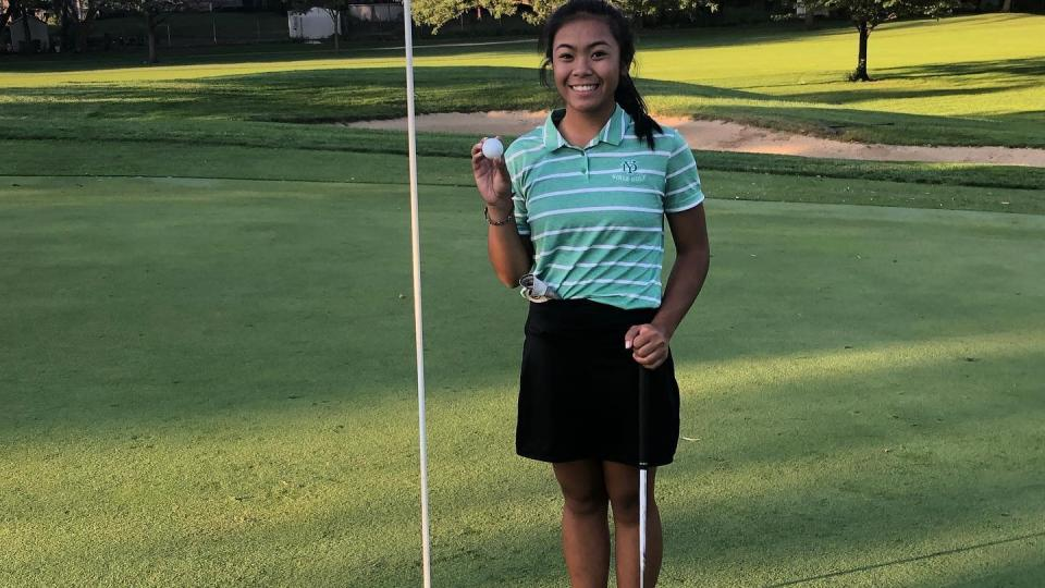 Audrey Matias Hole in One Sugar Creek!